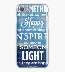 Inspirational Quote: Create Something That Inspires iPhone Case/Skin