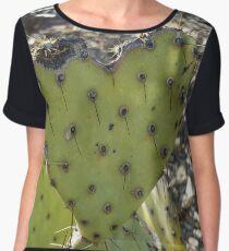 Green Prickly Pear Heart Chiffon Top