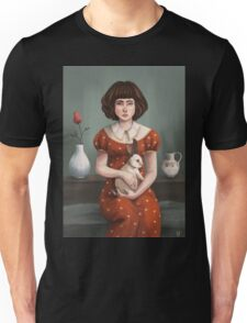 the girl and the rabbit Unisex T-Shirt