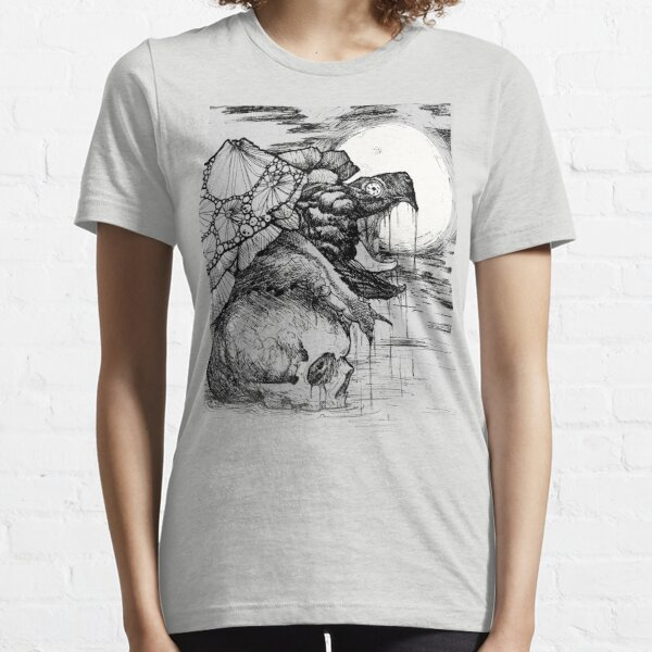 snapping turtle pen and ink Essential T-Shirt