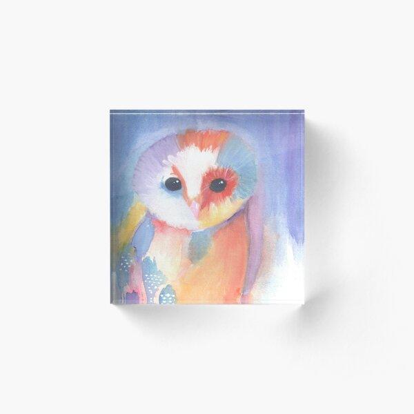 Owl Acrylic Block
