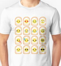Bread with Egg Emoji Different Facial Expression T-Shirt