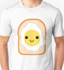 Bread with Egg Emoji Happy Smiling Face Unisex T-Shirt