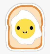Bread with Egg Emoji Happy Smiling Face Sticker