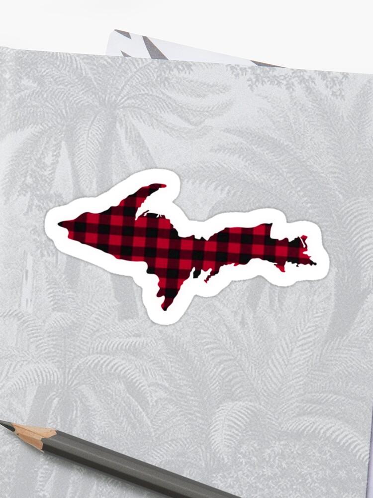UP Upper Peninsula Michigan Buffalo Check Plaid Yooper Sticker