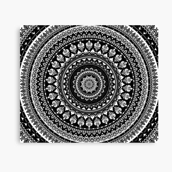 Mandala Monochrome 2 Canvas Print