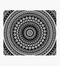 Mandala Monochrome 2 Photographic Print