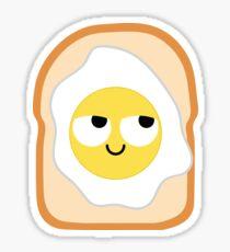 Bread with Egg Emoji Think Hard and Hmm Sticker