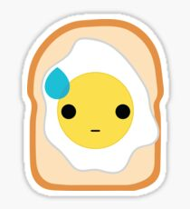 Bread with Egg Emoji Speechless with Sweat Sticker