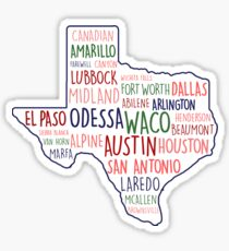 Texas Cities State Home Sticker
