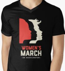 Women's March on Washington 2017 Official Men's V-Neck T-Shirt
