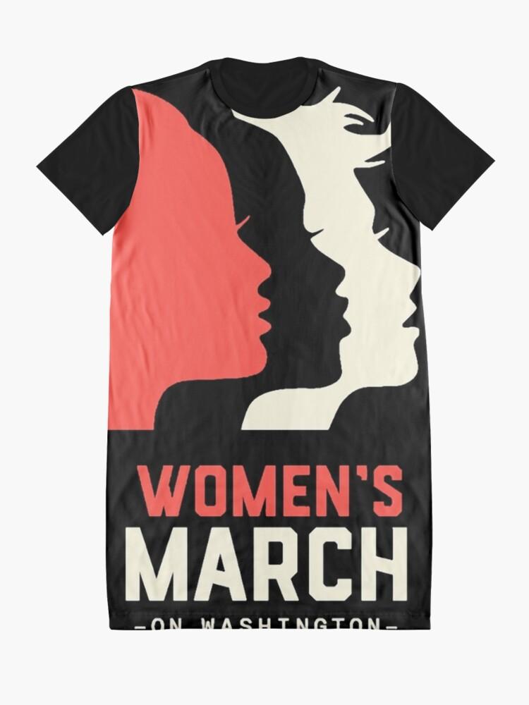 Alternative Ansicht von Frauen März auf Washington 2017 Offizieller T-Shirt Kleid