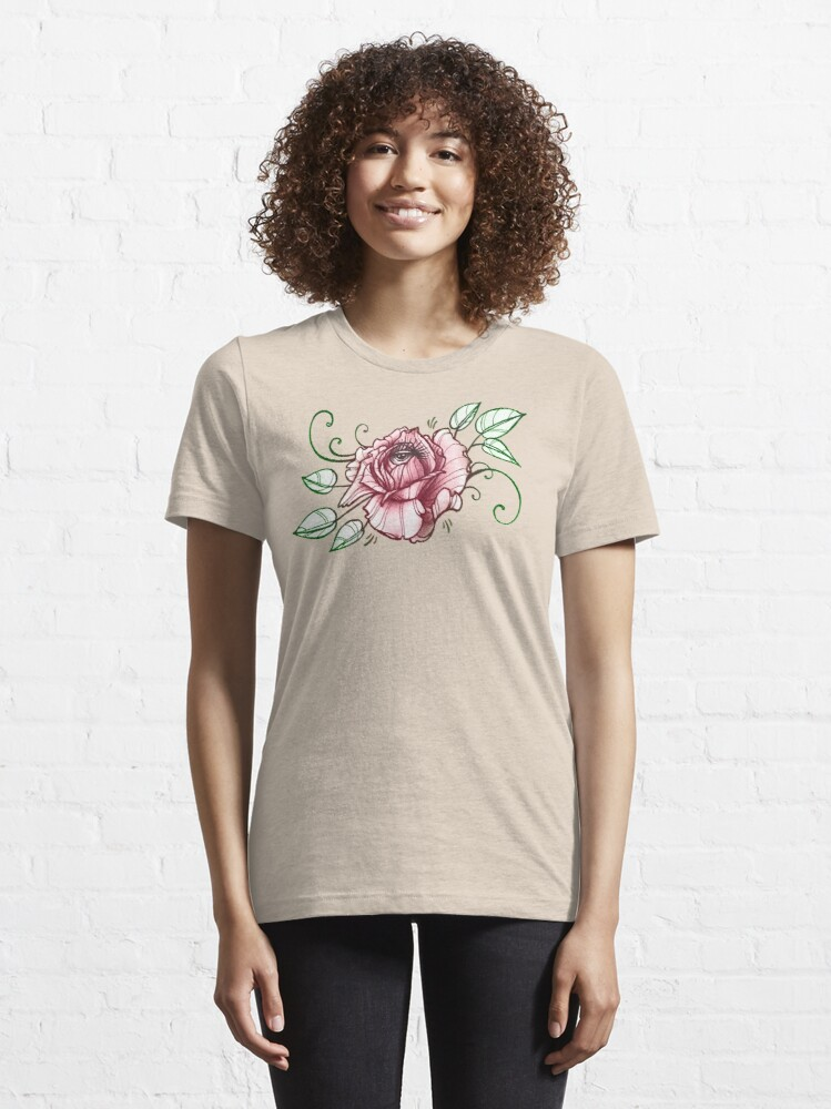 Alternate view of all seeing rose, eye in flower tattoo shirt Essential T-Shirt