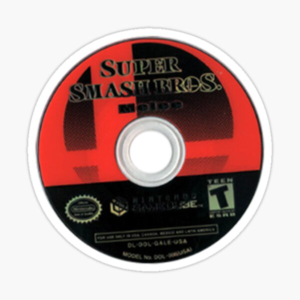 PEGATINA DISCO MELEE SUPER SMASH BROS Pegatina