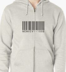 Barcode Roman Numeral - 1996 Zipped Hoodie
