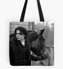 Johnny Depp with horse Tote Bag