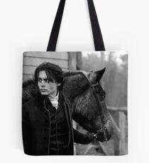 Johnny Depp mit Pferd Tote Bag