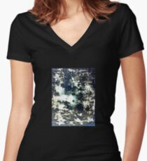 Tray abstract landscape Women's Fitted V-Neck T-Shirt