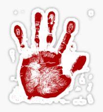 Red Palmprint Sticker