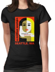 Women's March on Seattle Washington January 21, 2017 Womens Fitted T-Shirt