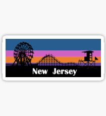 New Jersey Sunset Sticker