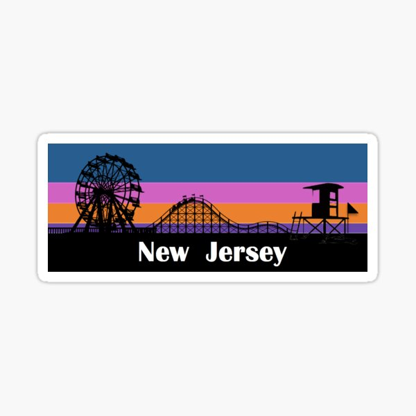 New Jersey Sunset Sticker