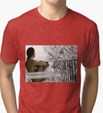"""Snowstorm"" Tri-blend T-Shirt"