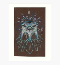 River Otter. Art Print