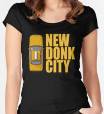 New Donk City Taxi Women's Fitted Scoop T-Shirt