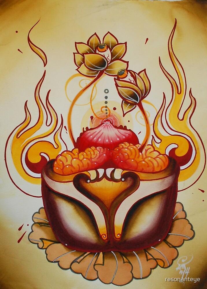 tibetan brainpan lotus scroll by resonanteye