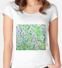 Blue Daisies Women's Fitted Scoop T-Shirt