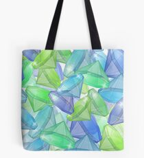 Placer precious stones, yellow , green , blue . Tote Bag