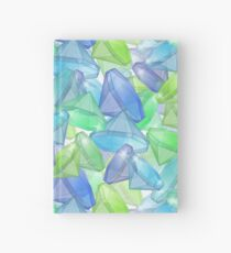 Placer precious stones, yellow , green , blue . Hardcover Journal