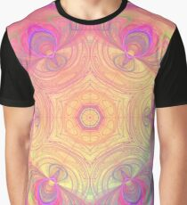 Psychedelic kaleidoscope in pastel colours Graphic T-Shirt