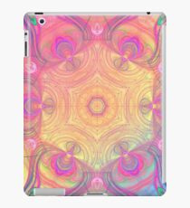 Psychedelic kaleidoscope in pastel colours iPad Case/Skin