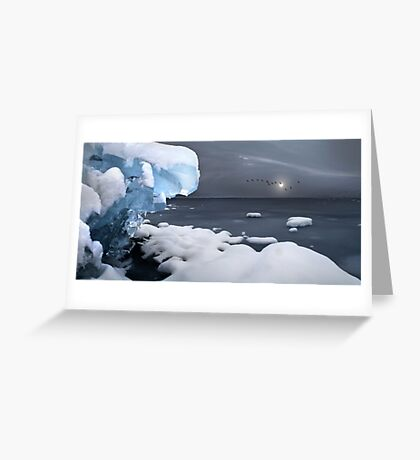 A Winter's Day - In A Deep And Dark December Greeting Card
