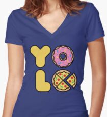 YOLO You Only Lift Once Women's Fitted V-Neck T-Shirt
