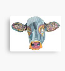 Cute Cow - Don't eat me -  (digistickie) ... by Giselle Metal Print
