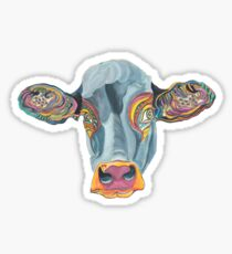 Cute Cow - Don't eat me -  (digistickie) ... by Giselle Sticker