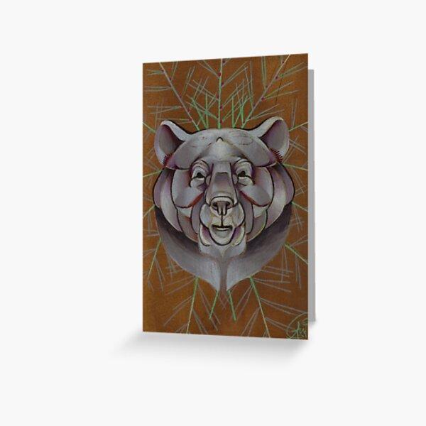 bear animal totem Greeting Card