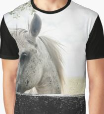 White Horse Graphic T-Shirt
