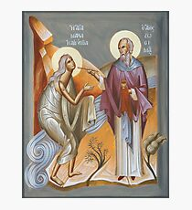 St Mary of Egypt and St Zosimas Photographic Print