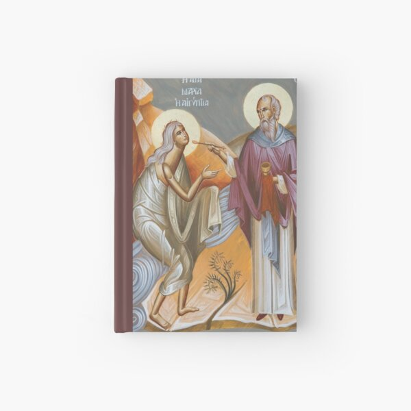 St Mary of Egypt and St Zosimas Hardcover Journal