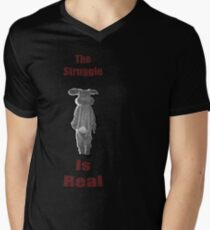 The Struggle Is Real Mens V-Neck T-Shirt