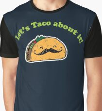 Taco - Let's taco about it! - Vintage Retro style Graphic T-Shirt