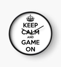 Keep calm and game on Clock