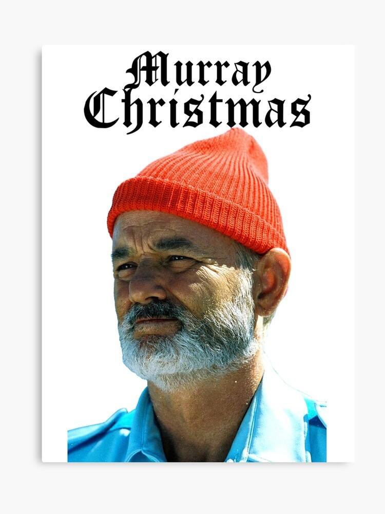 Murray Christmas.Murray Christmas Bill Murray Canvas Print