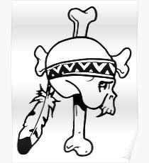 Cross & Bones American Native Poster