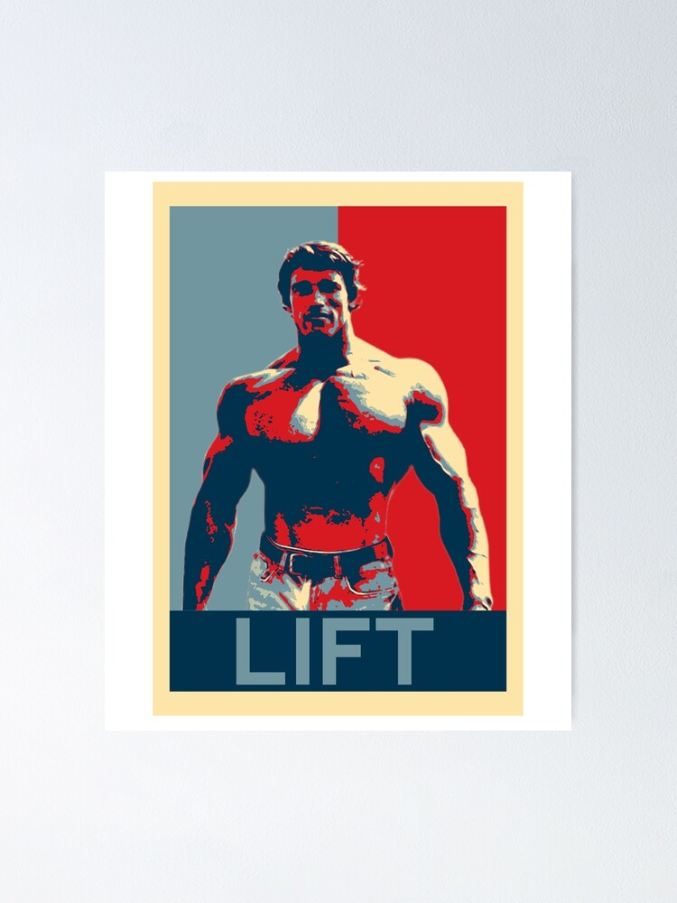 Alternate view of Arnold Training Lift Gym Poster