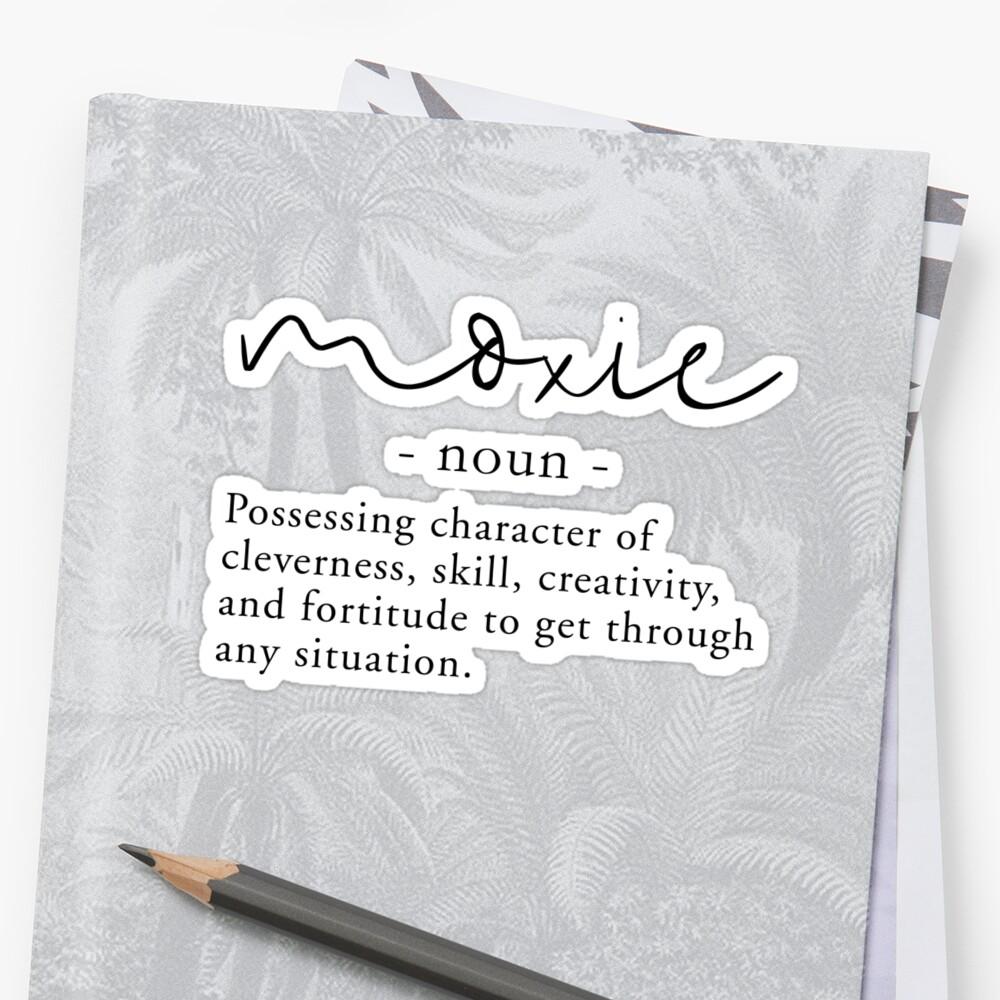 Moxie Definition   Minimalist Black On White By Kit Cronk
